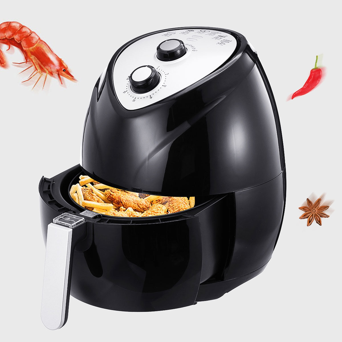 Buy 1400w 3 6l Oil Free Air Fryer Multifunction Cooker Smart Airfryer Pizza Maker Temperature Control Timing Kitchen Cooking Tools Online In India 4000412069820