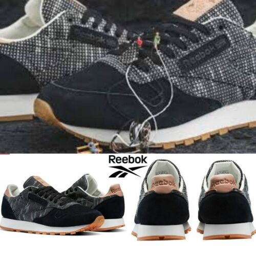 Tratar Post impresionismo Peave  Buy Reebok Classic Leather Ebk Shoes Sneakers Black Grey BS6236 SZ 4-12.5  Online in India. 152912318844