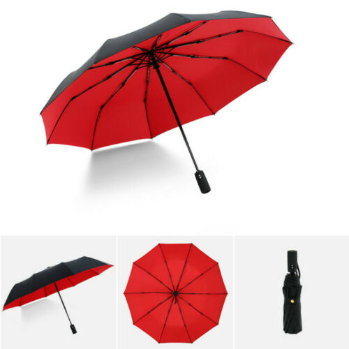 Compact 46 Inch Rain Umbrella for Men Women Cartoon Cute Autumn Red Fox Reading Book Travel Umbrella Auto Open Close Automatic Folding Umbrella