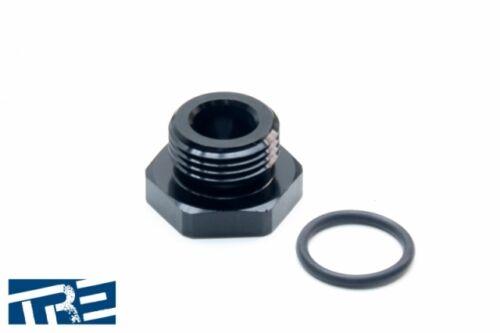 Treadstone Performance 6AN Flare Plug Fitting HFFP-06 Black