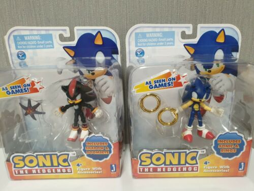 The Hedgehog 65816 Cartoon Character SONIC with Rings Collection Figure