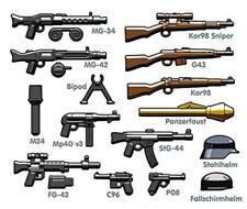 110PCS Brickarms Custom Guns Minifigure Toy Military Minifigure Weapon Lot
