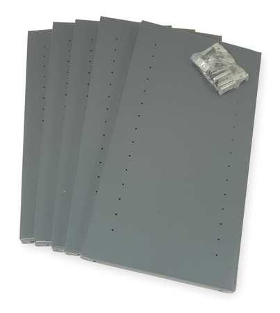 EDSAL 85PXN Shelving Post,Steel,Gray,85 In H