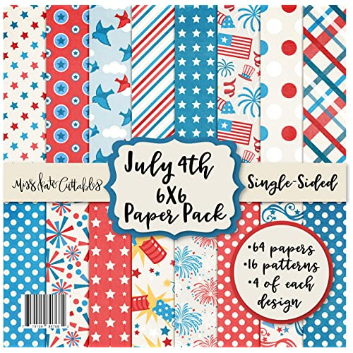 Scrapbook Premium Specialty Paper Single-Sided 12x12 Collection Includes 16 Sheets Pattern Paper Pack by Miss Kate Cuttables Summer Fun