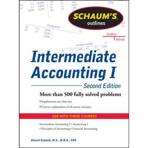 Schaums Outline of Principles of Accounting I Fifth Edition