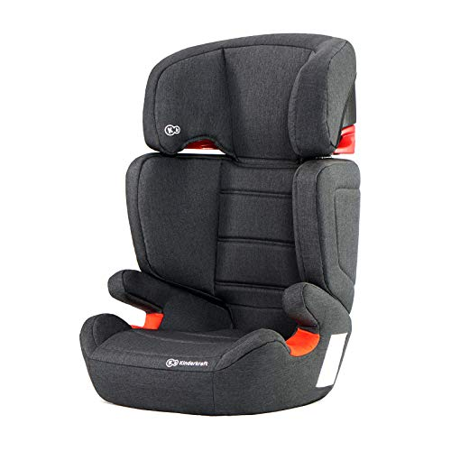 for Toddlers Reclining Safety Certificate ECE R44//04 Booster Black 9-36 Kg with Isofix Group 1//2//3 Kinderkraft Car Seat ONETO3 Child Seat Base Up to 12 Years Infant Gray Top Tether