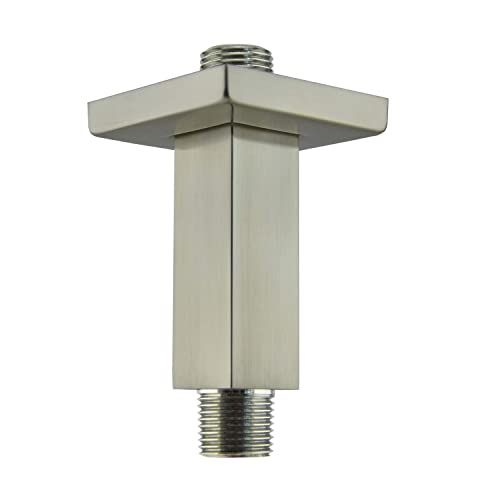 Aquaiaw Shower Arm And 3, 12 Inch Brushed Nickel Shower Arm