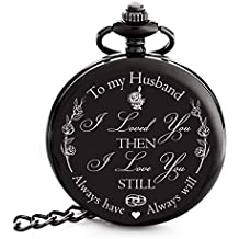 352a1ebe7 Anniversary Gifts for Men | Engraved 'To my Husband' Pocket  Watch | Perfect