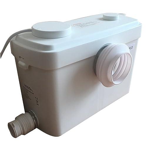 Toilet Macerating Pump,Kitchen Waste Water Disposal Pump,Reamer crush Function,Automatic start stop,AC 110V 600W High Power Saving Function Toilet Macerator Pump White 400 Watt