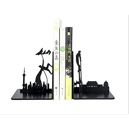 Buy Synl Decorative Metal Bookend In Black Colour Unique Bookends Gifts For Book Lovers Original Design Online In India B07yw42rfh