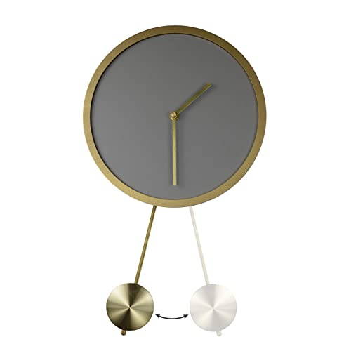 Buy La Jolie Muse Grey Pendulum Wall Clock Circle Wall Decoration Art Battery Operated Modern Wood Home Decor9 8 Inch Online In India B07v7tpryn