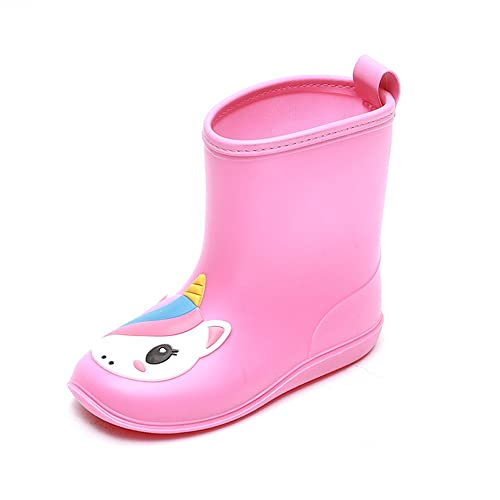 a85eabc047852 Buy DKSUKO Toddler Kids Rain Boots Waterproof Cartoon Yellow Rubber ...