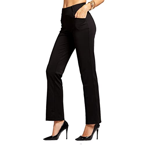 Comfy Stretch Bootcut Pants Wear to Work MOVING DEVICE Dress Pants for Women