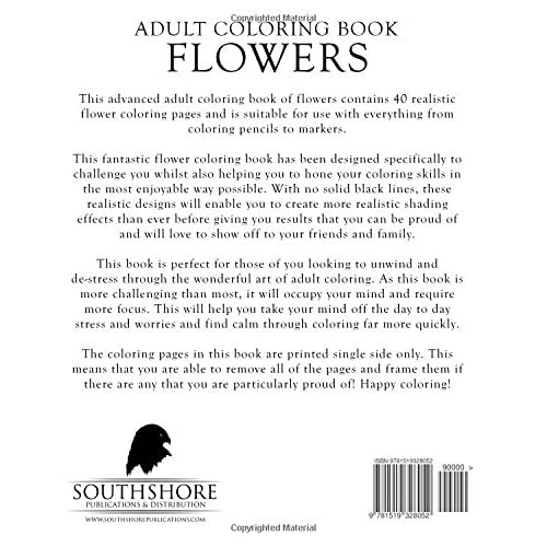 - Buy Adult Coloring Book Flowers: Advanced Realistic Flowers Coloring Book  For Adults (Advanced Realistic Coloring Books) (Volume 6) Paperback –  November 15, 2015 Online In India. 1519328052
