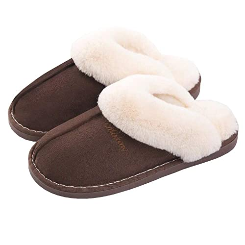 69f61db67 Buy SOSUSHOE Women Slippers Fluffy Fur Slip On House Slippers Soft and Warm  House Shoes for Indoor Outdoor with Ubuy India. B075M47ZRV
