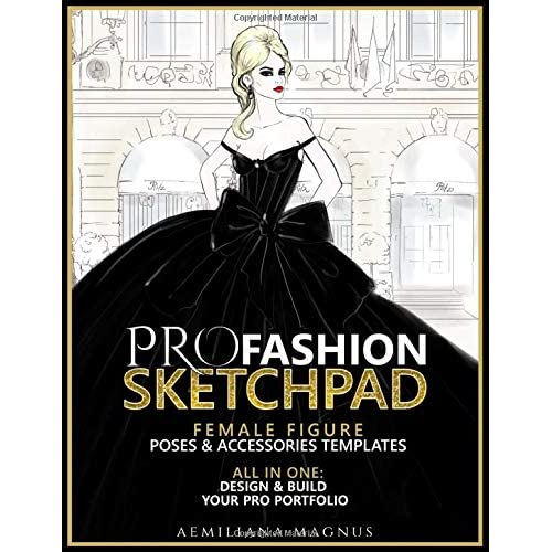Pro Fashion Sketchpad Female Figure Poses Accessories Templates All In One Design Build Your Pro Portfolio Buy Products Online With Ubuy India In Affordable Prices 1719342504