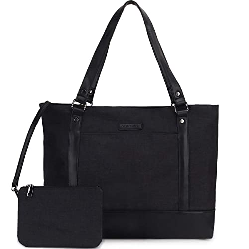 Laptop Bag for Women 15.6 Inch Tote Shoulder Bag with Small Pouch VONXURY
