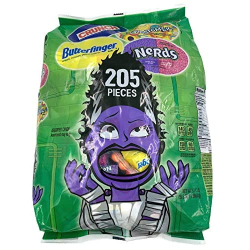 Halloween Nerds Candy.Buy Butterfinger Nerds Crunch Gobstopper Assortment Halloween Candy 205 Pieces 3 71 Lbs Halloween Giveaway Candy Trick Or Treat Assortment Online In India B07yx8x394