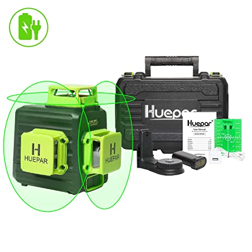 MiLESEEY Laser Level Self-Leveling 3D Green Beam 3x360 Cross Line Lasers Three-Plane Leveling and Alignment Two 360/°Vertical and One 360/°Horizontal 12Line Magnetic Pivoting Base Laser Line-L5G