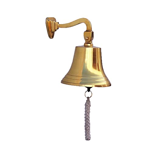 Buy Parijat Handicraft Solid Brass Ships Bell Wall Mountable Clear Ring For Indoor And Outdoor Use Solid Brass Heavy Bracket Ship Bell Size 5 Inch Online In India B07cll6khn