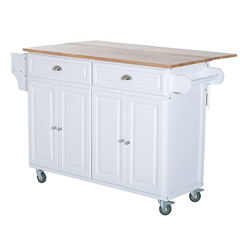 Buy Homcom Wood Top Drop Leaf Rolling Kitchen Island Table Cart On Wheels White Online In India B07zv4xdhv