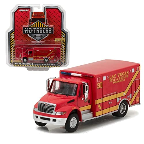 International Durastar Ambulance Fire Department Emergency Medical Services ALS Unit White H.D Trucks Series 14 1//64 Diecast Model by Greenlight 33140 B