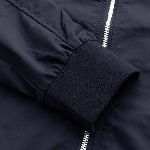 CRYSULLY Mens Spring Fall Casual Slim Fit Thin Lightweight Outwear Sportswear Bomber Jacket Coat
