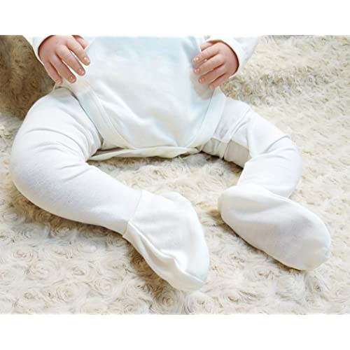 Edenswear Zinc-Infused Tencel Long Tube Moisturizing Socks for Baby with Eczema