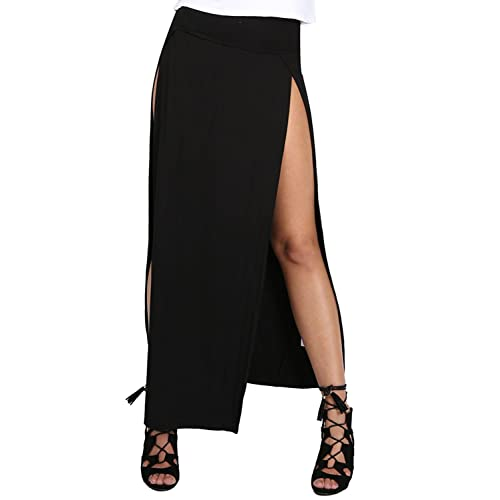 Oops Outlet Girls Tube Bodycon Wiggle Party Peplum Ponte Plain Skirt Midi Jersey