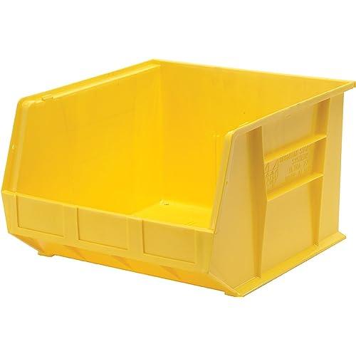Quantum Storage Systems K-QUS270YL-1 Plastic Storage Stacking Ultra Bin 18 x 16 x 11 Yellow 18 x 16 x 11