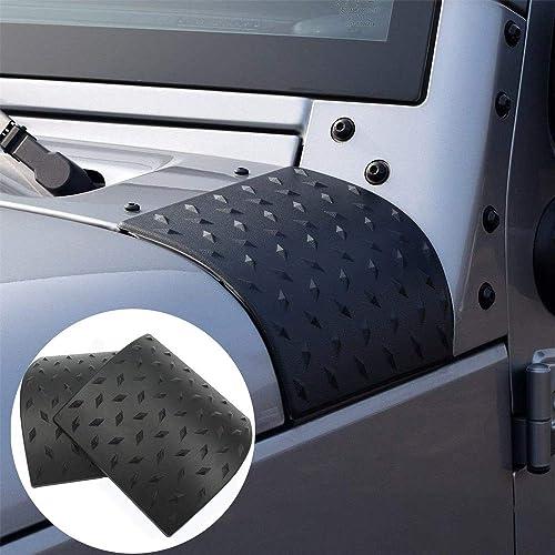 ECOTRIC Jeep Rear Corner Guards Body Armor Kit Rear Quarter Panel for 2007-2018 Jeep Wrangler