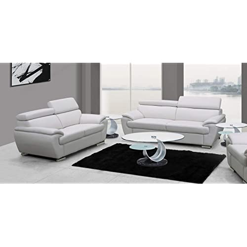 Piece Leather Living Room Sofa Set, Touch Of Class Furniture