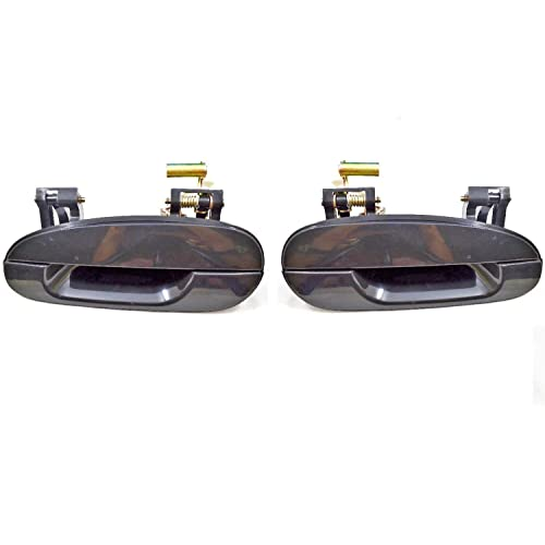 PT Auto Warehouse TO-3180P-RP Primed Black Rear Pair Outer Exterior Outside Door Handle