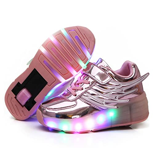 774dd72e2e6bef Buy Nsasy Roller Shoes Roller Skates Shoes Girls Boys Wheel Shoes Kids  Wheel Sneakers Roller Sneakers Shoes with Wheels with Ubuy India. B01LZN9ZS9