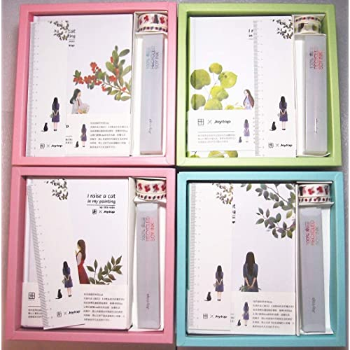 Joytop Notebook Pot Plant Bird Cat Dog Succulent Flowers Ruled Lined Diary B5