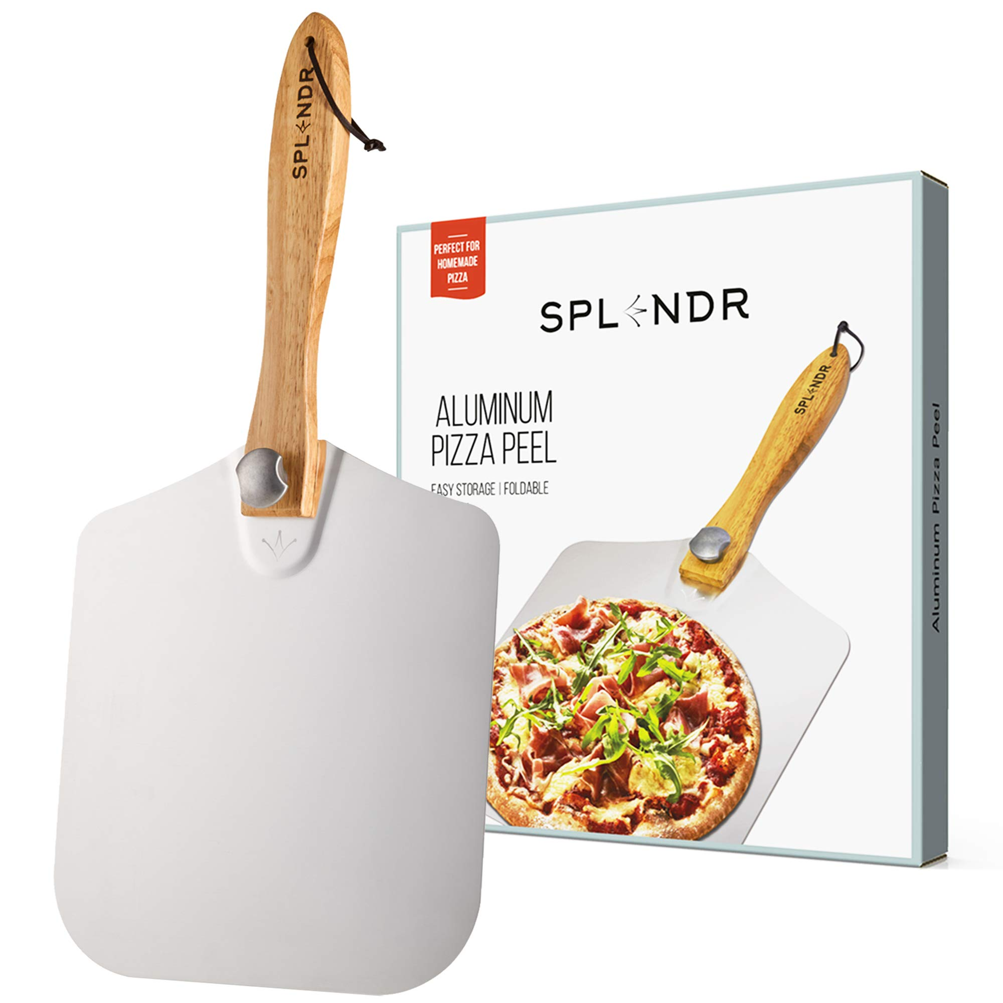Renewed Kitchen Supply 16-Inch x 18-Inch Aluminum Pizza Peel with Wood Handle
