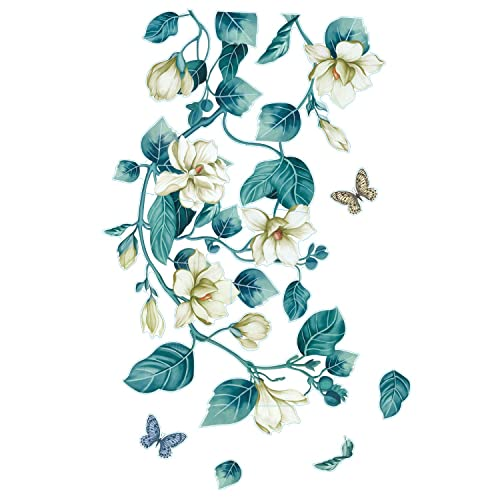 Buy Rw 6399 Giant Removable 3d Green Plant Flower Vines Wall Stickers Diy Home Wall Art Decor Wallpaper Wall Decals For Bedroom Nursery Girls Bedroom Living Room Decoration Green Online In India B0859yjc5n