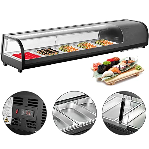 Vbenlem 4 7 Cu Ft Sushi Bar Showcase 5 X 12gn Trays Countertop Sushi Cooler Display Refrigerators 132l Prep Station With Tempered Glass Abs Shell Suit For Commercial Restaurants Bakeries Bars Buy Products 30:15 giallozafferano recommended for you. ubuy