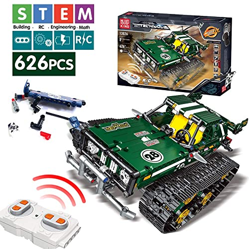 Mould King Remote Control Building Blocks Car Rc Tracked Racer Building Blocks High Speed Cars Learning Stem Toys For Kids Age 8 9 12 13 And 14 Year Old Boy Gift Ideas Green