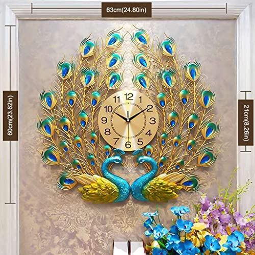 Buy Langshi Peacock Wall Clock Living Room Wall Decoration Online In India B07wzcv8d2