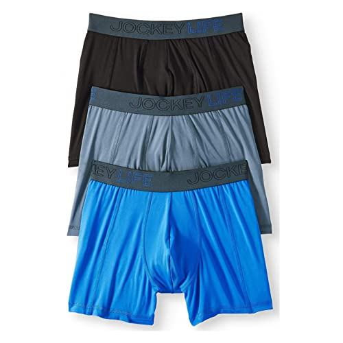 Jockey Life Collection Mens Small 28-30 3 Pack Stretch Boxer Briefs