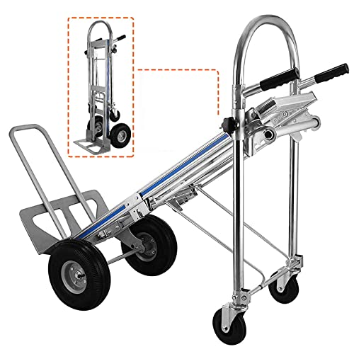 SACK TRUCK 60in ALU 6 WHEELS HAND TRUCK 225 lb ELECTRIC PRO STAIR CLIMBER