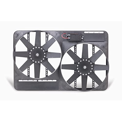 Flex-a-lite 485 Direct-Fit Black Magic X-Treme electric fan for 87-06 Jeep Wrangler