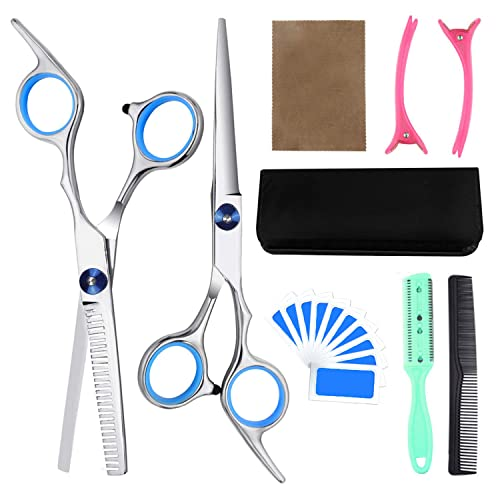 Buy 9pcs Hair Cutting Tool Hairdressing Kit Haircut Scissors Thinning Shear Comb Hairpins For Home Salon Barber Supplies Blue Online In India B087667qqy