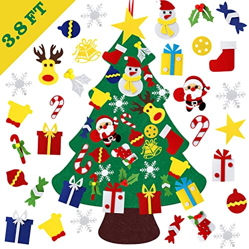 Buy Tobeape Diy Felt Christmas Tree Set With Ornaments 3 8ft Handmade Door Wall Hanging Decorations For Kids Xmas Gifts New Year Party Supplies Online In India B07znxsrsw