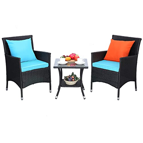 Do4u Outdoor Furniture Sets 3, Turquoise Outdoor Furniture