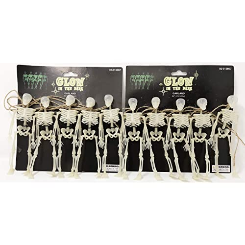 Beistle 00328 3 Piece Skeleton Garland 6 x 5