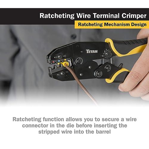 Titan Tools 11477 Ratcheting Wire Terminal Crimper