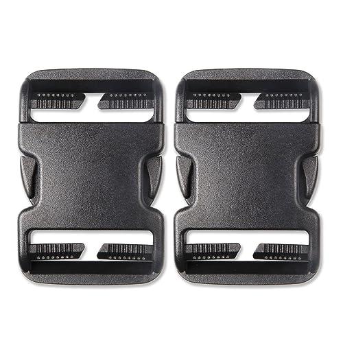 2PCS, Black DYZD Premium 1 Inch Side Release Buckles POM Plastic Buckles