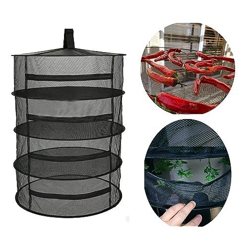 Collapsible Drying Net Herb Dryer Mesh Tray In//Outdoor Garden Drying Racks 4Tier